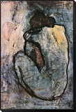 Nu azul, cerca de 1902 Montagem de impressão emoldurada por Pablo Picasso