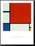 Composition with Red Blue Yellow Framed Print Mount by Piet Mondrian