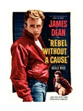 La Fureur de vivre - Rebel Without a Cause : affiche américaine du film de Nicholas Ray avec James Dean, 1955 Reproduction procédé giclée