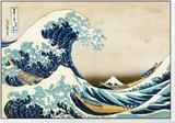 Den store bølgen ved Kanagawa, fra 36 visninger av berget Fuji, ca. 1829 Feste til innrammet trykk av Katsushika Hokusai