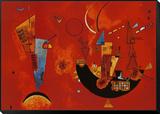 A favor y en contra, c.1929 Lámina montada y enmarcada por Wassily Kandinsky