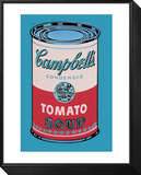 Campbell's Soup Can, 1965 (Pink and Red) Framed Print Mount by Andy Warhol