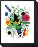De zingende vis Ingelijste kunst op hout van Joan Miró