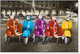 Motorroller - Rom Framed Print Mount