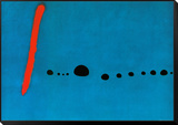 Azul II Lámina montada con marco por Joan Miró