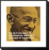 Gandhi: vivir y aprender Lámina montada y enmarcada