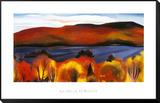 Lake George, Autumn, 1927 Indrammet opspændt tryk af Georgia O'Keeffe