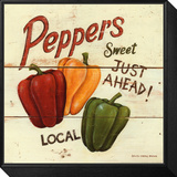 Sweet Peppers Framed Print Mount by David Carter Brown