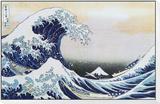 Die große Welle von Kanagawa, ca. 1829 Framed Print Mount von Katsushika Hokusai