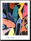Damenschuhe, 1980 (lila, blau, grün) Framed Print Mount von Andy Warhol