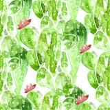 Seamless Watercolor Cactus Pattern, Posters by Oksana Pravdina