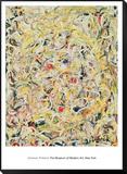 Shimmering Substance, c.1946 Inramat monterat konsttryck av Jackson Pollock