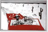 Angst und Schrecken in Las Vegas Framed Print Mount von Ralph Steadman