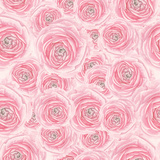 Watercolor Rose Pattern Premium Giclee Print by  lenavetka87