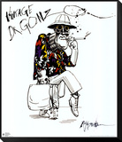 Angst en walging, Fear and Loathing in Las Vegas Ingelijst aangebrachte kunstdruk van Ralph Steadman