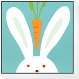 Peek-a-Boo I, Rabbit Framed Print Mount by Yuko Lau