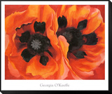 Oriental Poppies, 1928 Framed Print Mount by Georgia O'Keeffe