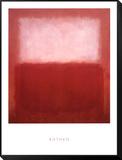 White over Red Framed Print Mount von Mark Rothko