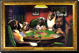 Dogs Playing Poker Framed Print Mount