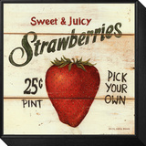 Sweet and Juicy Strawberries Framed Print Mount by David Carter Brown