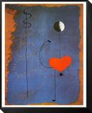 Ballerina II, ca.1925 Indrammet opspændt tryk af Joan Miró