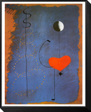 Bailarina II, c.1925 Lámina montada con marco por Joan Miró