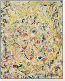 Shimmering Substance, c.1946 Lámina montada con marco por Jackson Pollock