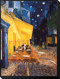 Vincent van Gogh - Terasa kavárny v noci (The Café Terrace on the Place du Forum, Arles, at Night, cca 1888) Zarámovaná reprodukce na desce