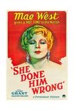 She Done Him Wrong, 1933 Giclee Print