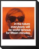 Fünfzehn Minuten Framed Print Mount von Andy Warhol