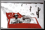 Miedo y asco en Las Vegas Lámina montada con marco por Ralph Steadman