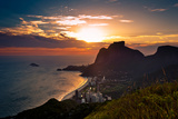 Sunset behind Mountains in Rio De Janeiro Photo by  dabldy