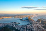 Rio De Janeiro, View from Corcovado to Sugarloaf Mountain Photographic Print by  xura