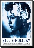 Billie Holiday– Town Hall, New York, 1948 Framed Print Mount von Dennis Loren