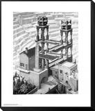 Wasserfall Framed Print Mount von M. C. Escher
