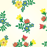 Seamless Texture with Flowers. Endless Floral Pattern Premium Giclee Print by Oksana Pravdina