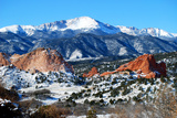 Pikes Peak, Colorado Springs Photographic Print by Reflections by Erika