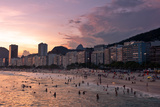 Sunset in Copacabana Beach Posters by  dabldy