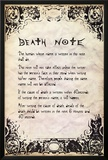 Deathnote - Rules Photo