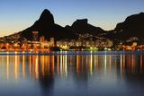 Sunset Lagoon Rodrigo De Freitas (Lagoa), Mountain, Rio De Janeiro, Brazil Photographic Print by  jantroyka
