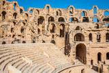 Amphitheater in El Jem, Tunisia Fotografisk tryk af  perszing1982