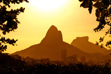 Rio De Janeiro Mountains by Sunset Photographic Print by  dabldy