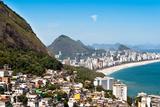 Rio De Janeiro Favela and Ipanema Beach View Posters by  dabldy