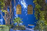 Majorelle Gardens in Marrakesh Fotografisk tryk af  p lange
