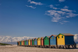 Cape Town Beach Huts Fotografisk tryk af  dan-edwards