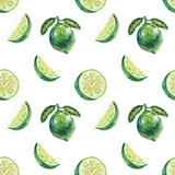 Watercolor Lime Pattern Posters by  lenavetka87
