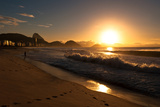 Sunrise in Copacabana Beach Photographic Print by  dabldy