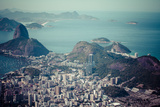Rio De Janeiro, Brazil. Suggar Loaf and Botafogo Beach Viewed from Corcovado Photographic Print by Curioso Travel Photography