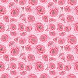 Watercolor Pink Rose Pattern Premium Giclee Print by  lenavetka87