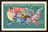 Smithsonian - United Stamps Of America Print
